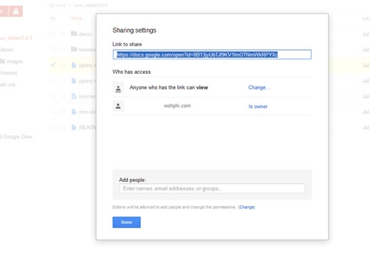 Private Nivo Slider file in Google Drive